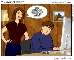 Joy Of Tech - Stop Googling Yourself