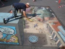 Julian Beever At Alextorv In Copenhagen Denmark