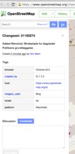 OpenStreetMap – Changeset