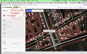 OpenStreetMap – ID Editor – Add point