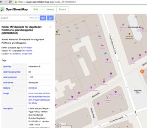 OpenStreetMap – Node – Mindeplade for dagbladet Politikens grundlæggelse (3521036042)