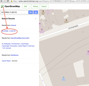 OpenStreetMap Search Results
