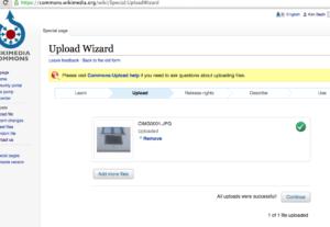 Wikimedia Commons – UploadWizard – Files Uploaded