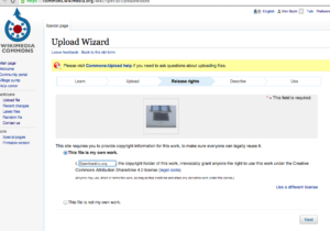 Wikimedia Commons – UploadWizard – Release Rights