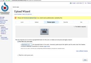 Wikimedia Commons – UploadWizard – Release Rights
