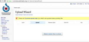 Wikimedia Commons – UploadWizard – Select Media Files