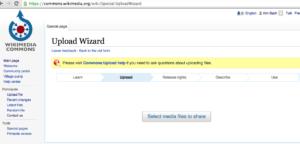 Wikimedia Commons – UploadWizard – Select Media Files