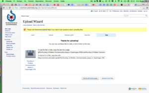 Wikimedia Commons – UploadWizard – Use