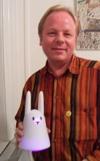 Kim Bach og Nabaztag kaninen ArseneLapin